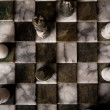 Marble chess pieces - Stok fotoğraf