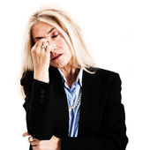 Stressed woman portrait — Stock Photo