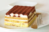 Typical Italian dessert called tiramisu — Stock Photo