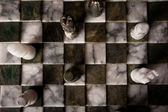 Marble chess pieces — Stock Photo