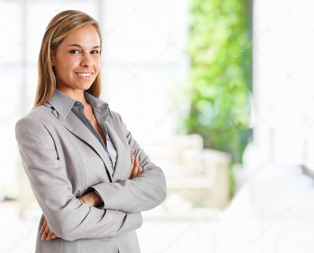 Portrait of a young smiling businesswoman — Stock Photo #6970159