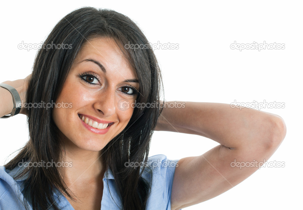Portrait of a young smiling businesswoman — Stock Photo #6970945