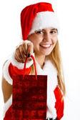 Vánoční dívka — Stock fotografie