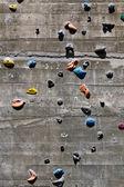 Segment of a climbing wall — Stock Photo