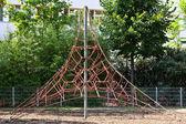 Climbing net on a playground — Stock Photo