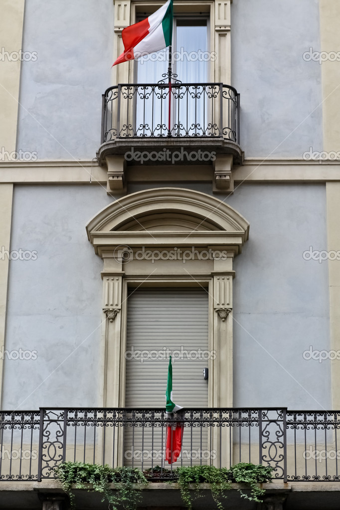 Closed italian balcony stock photo kyrien 6768407 for Closed balcony