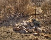 Small grave in the desert — Stock Photo
