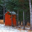 Alaskan outhouse in the snow — Stock Photo #7469591