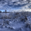 Snow and clouds — Stock Photo #7831931
