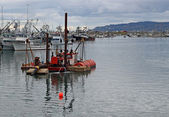 Dredge in the bay — Foto Stock