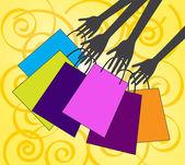 давайте ходить по магазинам — Стоковое фото