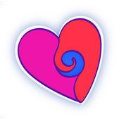 Forma de corazón derretido — Foto de Stock