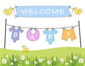 Welcome baby announcement — Foto Stock