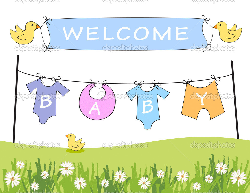 Welcome baby announcement — Stock Photo © agcuesta1 #7654924