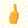 Royalty-Free Stock Imagen vectorial: Thumb up