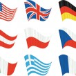Royalty-Free Stock Vector Image: Nine flags