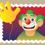 Doodle clown — Stock Vector #6821901