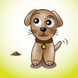 Stock Vector: Cute puppy