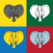Royalty-Free Stock Vector Image: Elephant´s heads