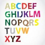 Color alphabet — Stock Vector