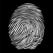 Fingerprint in negative — Stock Vector