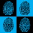 Stock Vector: Four fingerprints