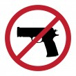 No gun sign — Stock Vector