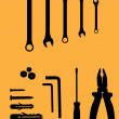 Household tools — Stock Vector