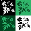 Royalty-Free Stock Vector Image: Set of leafs