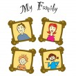 Royalty-Free Stock Vector Image: My family