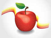 Red apple — Vettoriale Stock