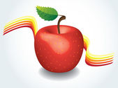 Red apple — Vecteur