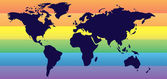 Rainbow map — Vector de stock