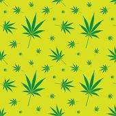 Cannabis leaf pattern — Stock Vector