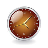Shiny metal clock — Stock Vector