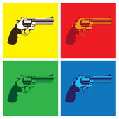 Revolver in pop-art style — Stock Vector