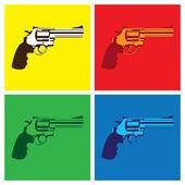 Revolver in pop-art style — Stock Vector