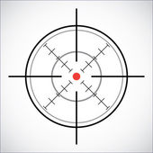 Crosshair with red dot - illustration — Stock Vector