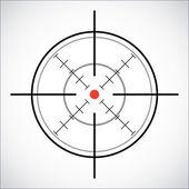 Mira com ponto vermelho - ilustração — Vetor de Stock