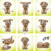 Set of puppies — Stock Vector