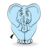 Blue elephant — Stock Vector