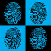 Four fingerprints — Stock Vector