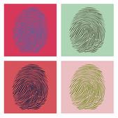Four fingerprints — Stock Vector