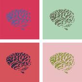 Lidský mozek — Stock vektor