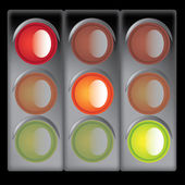 Traffic lights — Stockvektor