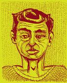 портрет человека — Cтоковый вектор