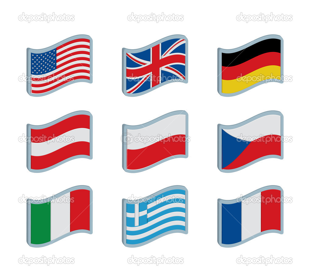 Nine flags illustration — Stock Vector #6821194