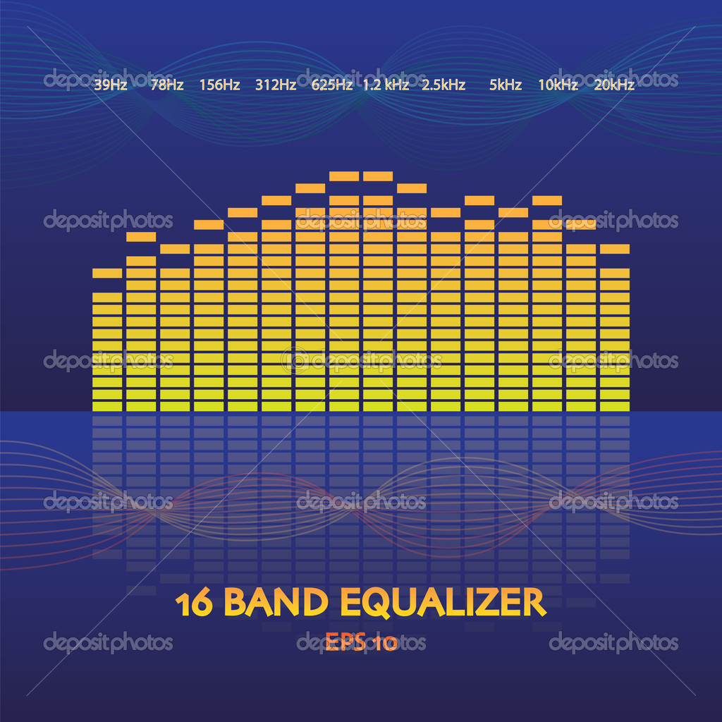 16 band equalizer in eps 10 illustration — Stock Vector #6822195
