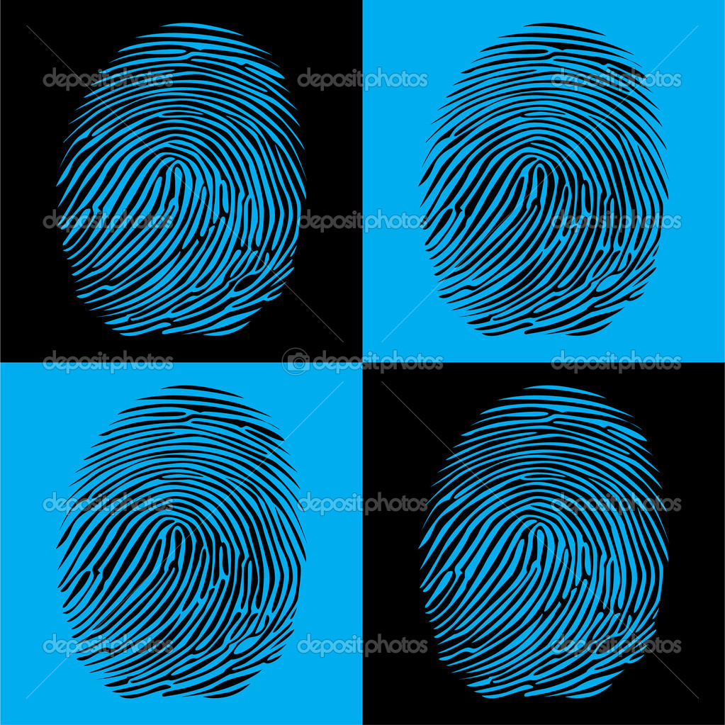 Fingerprints detailed illustration pop art style — Stock Vector #6822292