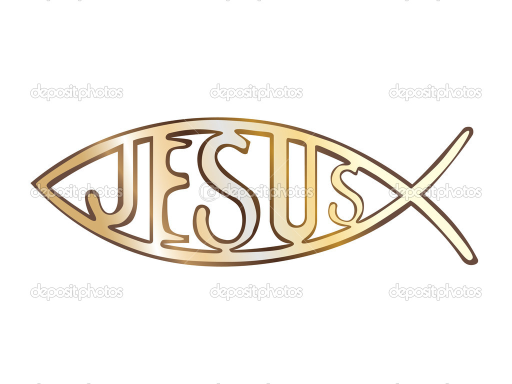Christian fish symbol - illustration  Stock Vector #6822330